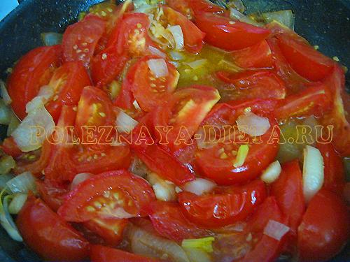 Овощное рагу с кабачками, баклажанами, капустой, помидорами. Блюда для диеты для похудения