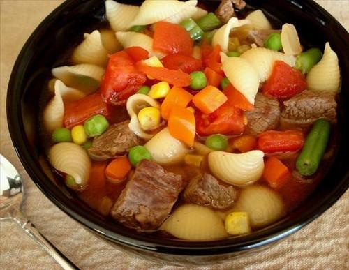 Макароны с овощами для похудения
