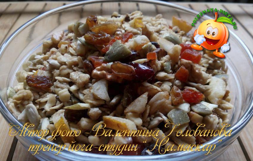Домашняя диетическая гранола: рецепт с фото