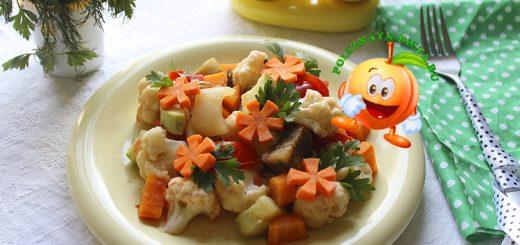 Диетическое рагу из овощей