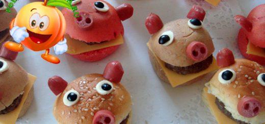 Новогодний гамбургер свинка