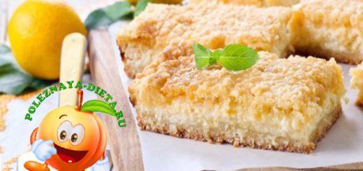 Быстрый творожный пирог из крошки